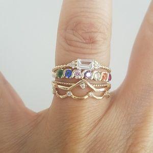 14k Solid Yellow gold Diamond Wedding Band Ring